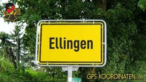 Verkehrszeichen von Ellingen {von GPS-Koordinaten|mit GPS-Koordinaten.com|und Breiten- und Längengrad