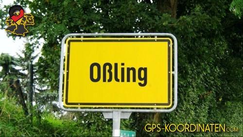 Einfahrt nach Oßling {von GPS-Koordinaten|mit GPS-Koordinaten.com|und Breiten- und Längengrad