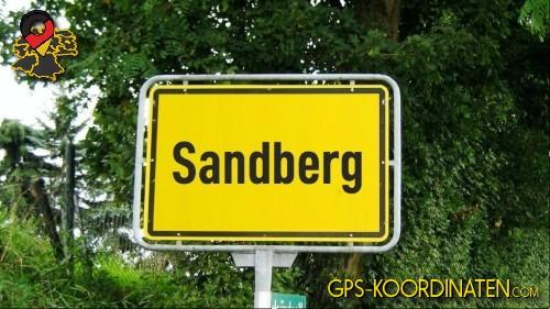 Verkehrszeichen von Sandberg {von GPS-Koordinaten|mit GPS-Koordinaten.com|und Breiten- und Längengrad