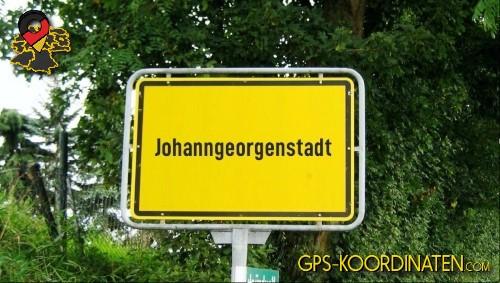 Ortseingangsschilder von Johanngeorgenstadt {von GPS-Koordinaten|mit GPS-Koordinaten.com|und Breiten- und Längengrad