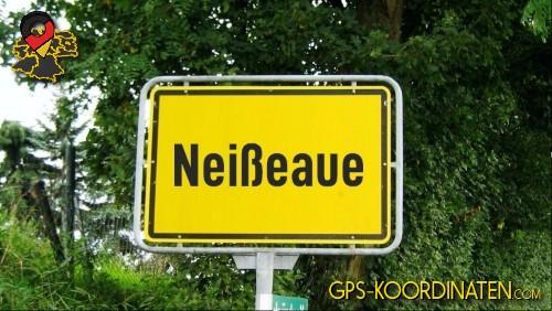 Einfahrtsschild Neißeaue {von GPS-Koordinaten mit GPS-Koordinaten.com und Breiten- und Längengrad