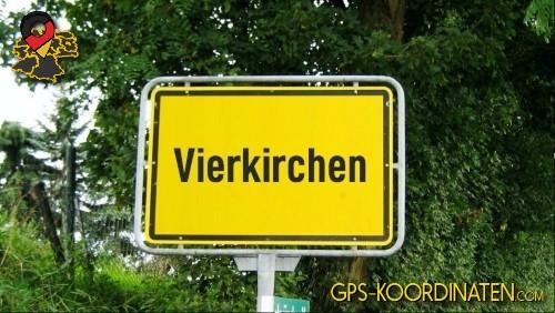Einfahrt nach Vierkirchen {von GPS-Koordinaten|mit GPS-Koordinaten.com|und Breiten- und Längengrad