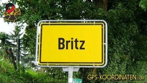 Einfahrt nach Britz {von GPS-Koordinaten mit GPS-Koordinaten.com und Breiten- und Längengrad