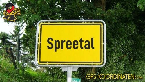 Ortseingangsschilder von Spreetal {von GPS-Koordinaten|mit GPS-Koordinaten.com|und Breiten- und Längengrad
