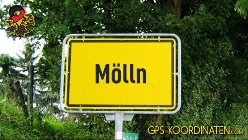 Einfahrt nach Mölln {von GPS-Koordinaten|mit GPS-Koordinaten.com|und Breiten- und Längengrad