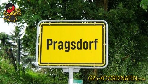Ortseingangsschilder von Pragsdorf {von GPS-Koordinaten mit GPS-Koordinaten.com und Breiten- und Längengrad