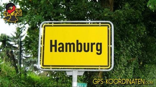 Ortseingangsschilder von Hamburg {von GPS-Koordinaten|mit GPS-Koordinaten.com|und Breiten- und Längengrad