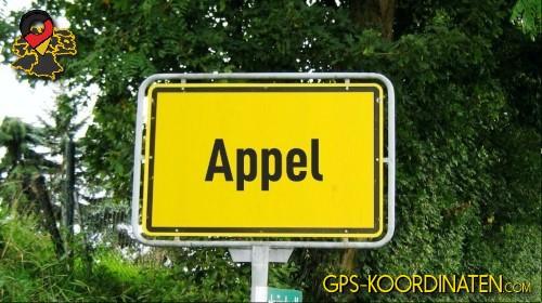 Verkehrszeichen von Appel {von GPS-Koordinaten|mit GPS-Koordinaten.com|und Breiten- und Längengrad