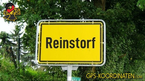 Ortseingangsschilder von Reinstorf {von GPS-Koordinaten|mit GPS-Koordinaten.com|und Breiten- und Längengrad