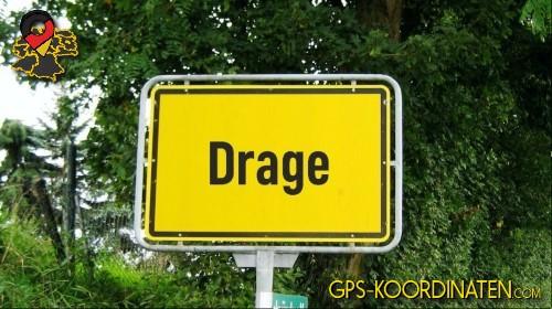 Verkehrszeichen von Drage {von GPS-Koordinaten|mit GPS-Koordinaten.com|und Breiten- und Längengrad