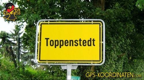 Einfahrt nach Toppenstedt {von GPS-Koordinaten|mit GPS-Koordinaten.com|und Breiten- und Längengrad