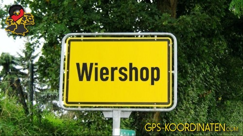 Einfahrt nach Wiershop {von GPS-Koordinaten|mit GPS-Koordinaten.com|und Breiten- und Längengrad