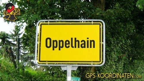 Verkehrszeichen von Oppelhain {von GPS-Koordinaten|mit GPS-Koordinaten.com|und Breiten- und Längengrad