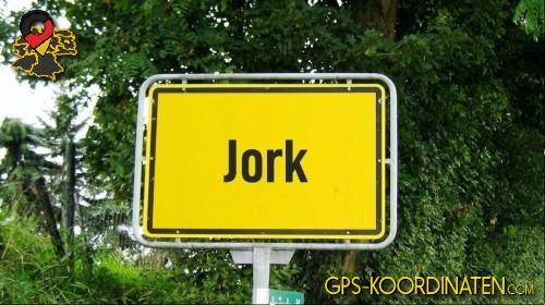 Ortseingangsschilder von Jork {von GPS-Koordinaten|mit GPS-Koordinaten.com|und Breiten- und Längengrad