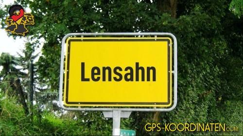 Einfahrt nach Lensahn {von GPS-Koordinaten|mit GPS-Koordinaten.com|und Breiten- und Längengrad