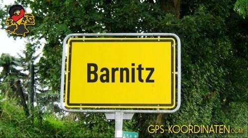 Verkehrszeichen von Barnitz {von GPS-Koordinaten|mit GPS-Koordinaten.com|und Breiten- und Längengrad