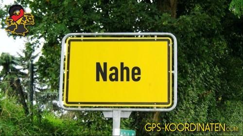 Ortseingangsschilder von Nahe {von GPS-Koordinaten|mit GPS-Koordinaten.com|und Breiten- und Längengrad