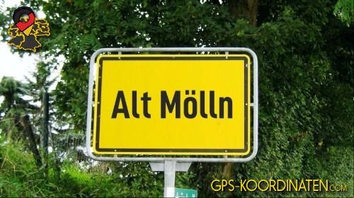 Ortseingangsschilder von Alt Mölln {von GPS-Koordinaten|mit GPS-Koordinaten.com|und Breiten- und Längengrad