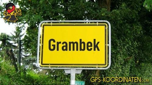 Ortseingangsschilder von Grambek {von GPS-Koordinaten|mit GPS-Koordinaten.com|und Breiten- und Längengrad