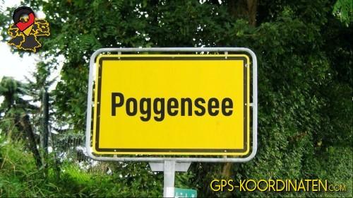 Einfahrt nach Poggensee {von GPS-Koordinaten|mit GPS-Koordinaten.com|und Breiten- und Längengrad