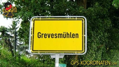Einfahrtsschild Grevesmühlen {von GPS-Koordinaten mit GPS-Koordinaten.com und Breiten- und Längengrad