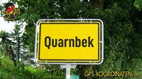 Verkehrszeichen von Quarnbek {von GPS-Koordinaten|mit GPS-Koordinaten.com|und Breiten- und Längengrad