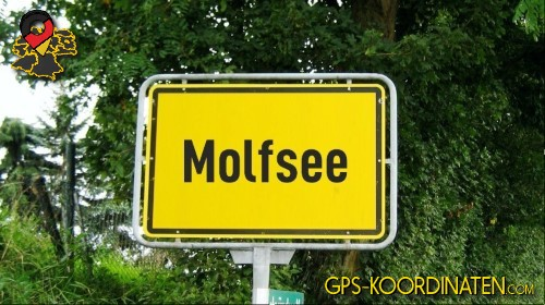 Ortseingangsschilder von Molfsee {von GPS-Koordinaten mit GPS-Koordinaten.com und Breiten- und Längengrad