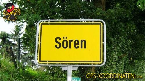 Verkehrszeichen von Sören {von GPS-Koordinaten|mit GPS-Koordinaten.com|und Breiten- und Längengrad