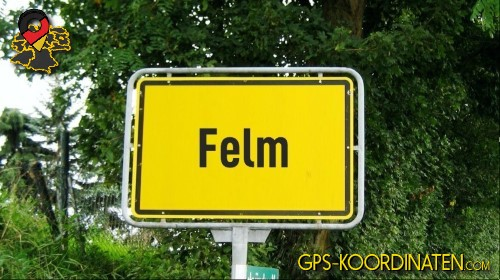 Verkehrszeichen von Felm {von GPS-Koordinaten|mit GPS-Koordinaten.com|und Breiten- und Längengrad