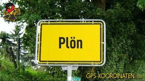 Einfahrt nach Plön {von GPS-Koordinaten mit GPS-Koordinaten.com und Breiten- und Längengrad