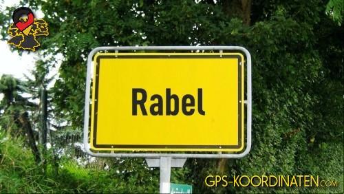Ortseingangsschilder von Rabel {von GPS-Koordinaten mit GPS-Koordinaten.com und Breiten- und Längengrad