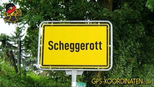Einfahrt nach Scheggerott {von GPS-Koordinaten mit GPS-Koordinaten.com und Breiten- und Längengrad