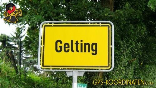 Einfahrt nach Gelting {von GPS-Koordinaten|mit GPS-Koordinaten.com|und Breiten- und Längengrad