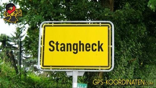 Ortseingangsschilder von Stangheck {von GPS-Koordinaten mit GPS-Koordinaten.com und Breiten- und Längengrad