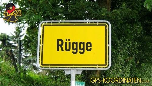 Einfahrt nach Rügge {von GPS-Koordinaten|mit GPS-Koordinaten.com|und Breiten- und Längengrad