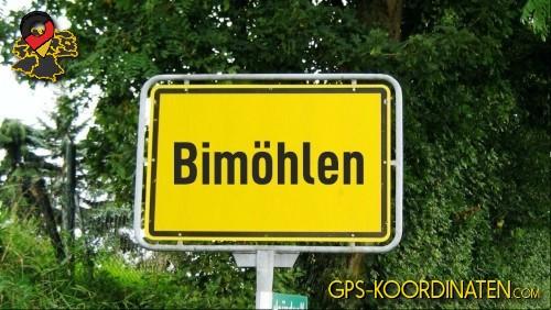 Verkehrszeichen von Bimöhlen {von GPS-Koordinaten mit GPS-Koordinaten.com und Breiten- und Längengrad
