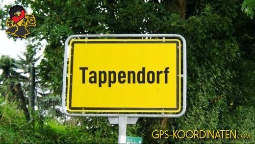 Ortseingangsschilder von Tappendorf {von GPS-Koordinaten|mit GPS-Koordinaten.com|und Breiten- und Längengrad