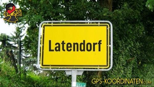 Ortseingangsschilder von Latendorf {von GPS-Koordinaten mit GPS-Koordinaten.com und Breiten- und Längengrad