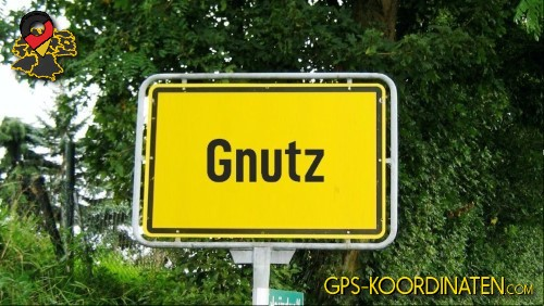 Verkehrszeichen von Gnutz {von GPS-Koordinaten|mit GPS-Koordinaten.com|und Breiten- und Längengrad