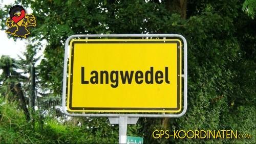 Ortseingangsschilder von Langwedel {von GPS-Koordinaten mit GPS-Koordinaten.com und Breiten- und Längengrad