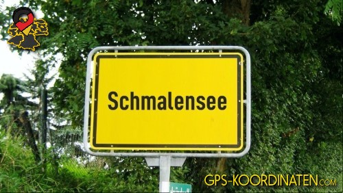 Verkehrszeichen von Schmalensee {von GPS-Koordinaten|mit GPS-Koordinaten.com|und Breiten- und Längengrad