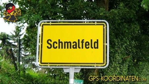 Verkehrszeichen von Schmalfeld {von GPS-Koordinaten|mit GPS-Koordinaten.com|und Breiten- und Längengrad