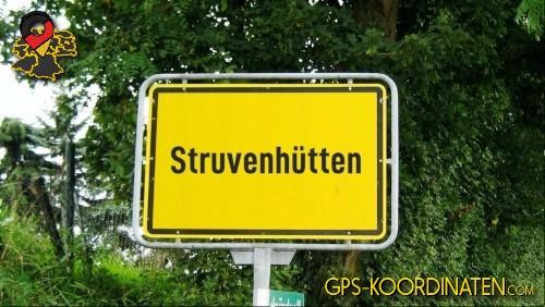 Einfahrt nach Struvenhütten {von GPS-Koordinaten|mit GPS-Koordinaten.com|und Breiten- und Längengrad