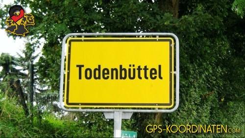 Einfahrt nach Todenbüttel {von GPS-Koordinaten mit GPS-Koordinaten.com und Breiten- und Längengrad