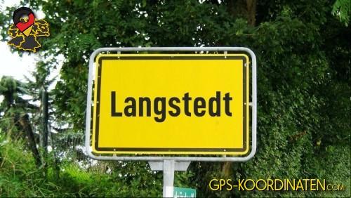 Verkehrszeichen von Langstedt {von GPS-Koordinaten|mit GPS-Koordinaten.com|und Breiten- und Längengrad
