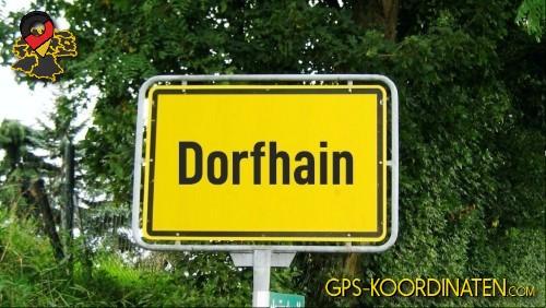 Einfahrt nach Dorfhain {von GPS-Koordinaten|mit GPS-Koordinaten.com|und Breiten- und Längengrad