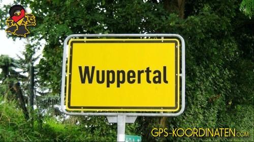 Ortseingangsschilder von Wuppertal {von GPS-Koordinaten|mit GPS-Koordinaten.com|und Breiten- und Längengrad