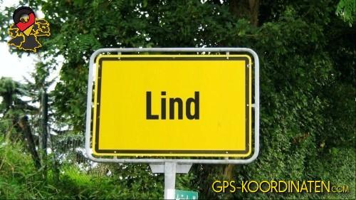 Einfahrt nach Lind {von GPS-Koordinaten|mit GPS-Koordinaten.com|und Breiten- und Längengrad